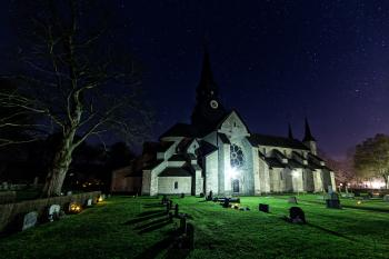 Photo of Cemetery at Night