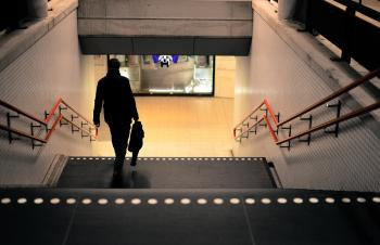 Photo Of Person Going Down The Stairs