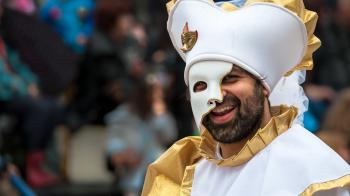 Photo of Person Wearing Phantom of the Opera Mask