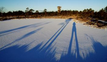 Photo of Shadow of a Person on the Snowfield