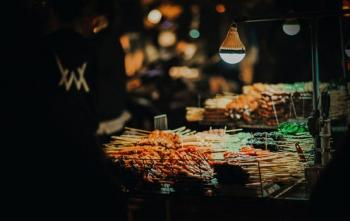 Photo of Street Foods on Cart at Night