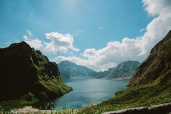 Photo of the Crater of  Mt. Pinatubo
