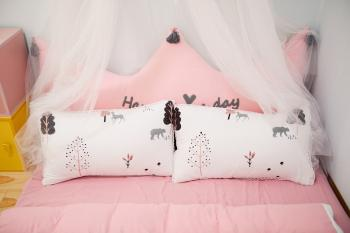 Photo of Two Pillows on the Bed