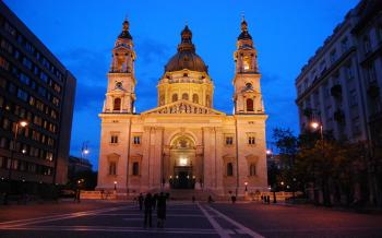 Photo Of White Cathedral During Night Time