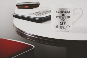 Photo of White Everyone Is Entitled to My Opinion Printed Mug