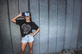 Photo of Woman Using Vr Headset