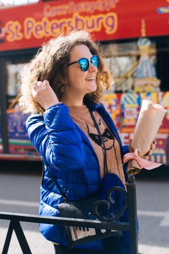 Photo of Woman Wearing Blue Jacket