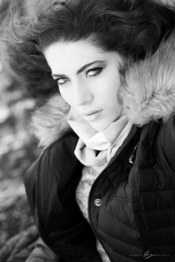 Photo of Woman Wearing Brown and Black Zip-up Parka Jacket