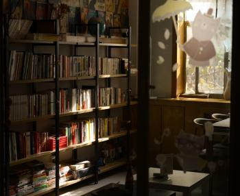 Photo of Wooden Bookshelves