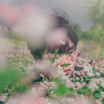 Photography of A Man Near Flowers