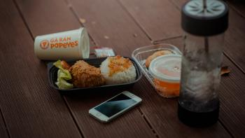 Photography of a Meal near Iphone