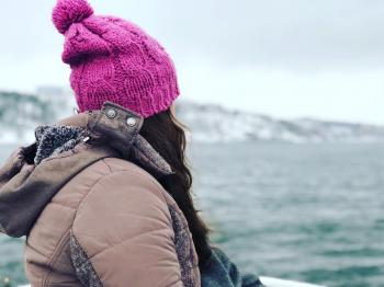 Photography of a Woman Wearing Pink Beanie