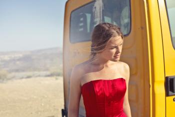 Photography of a Woman Wearing Red Dress