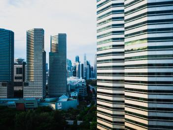 Photography of Singapore Skyscrapers
