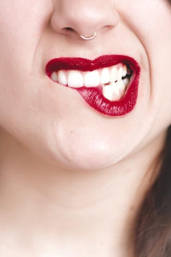 Photography of Woman's Red Lip