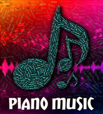 Piano Music Represents Keyboard Harmonies And Melody