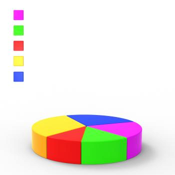 Pie Chart Indicates Financial Report And Charts
