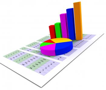 Pie Chart Indicates Stat Graphics And Infochart