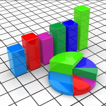 Pie Chart Report Represents Business Graph And Diagram