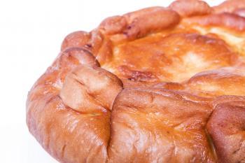 Pie on white