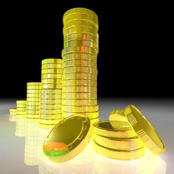 Pile Of Coins Showing Successful Business