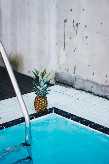 Pineapple Beside the Swimming Pool