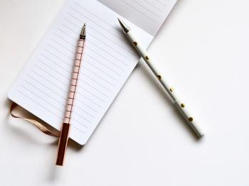 Pink and White Ball-point Pens