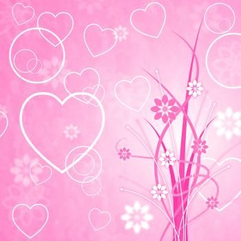 Pink Background Means Valentines Day And Abstract