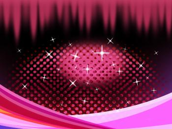 Pink Eye Shape Background Means Pupil Eyelashes And Twinkling