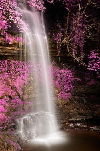 Pink Glencar Falls - HDR