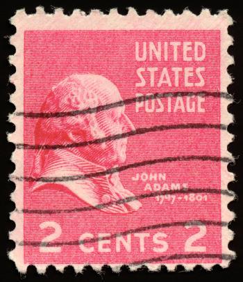 Pink John Adams Stamp