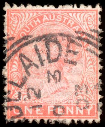 Pink Queen Victoria Stamp