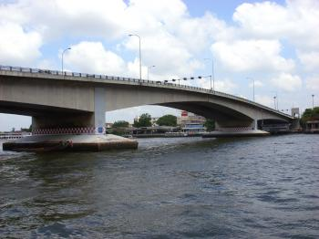Pinklao Bridge and Chao Phraya River, Bangkok