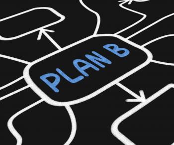 Plan B Diagram Shows Contingency Or Fallback