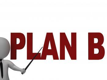 Plan B Showing Alternative Strategy