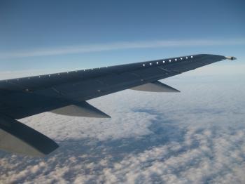 Plane piece and sky