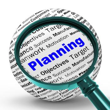 Planning Magnifier Definition Means Mission Planning Or Objectives