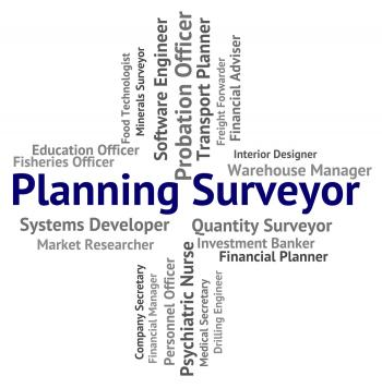 Planning Surveyor Indicates Mission Surveying And Work