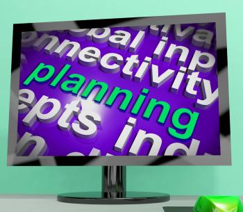 Planning Word Cloud Shows Objectives Plan And Organize
