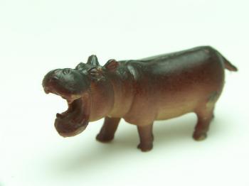 Plastic hippopotamus
