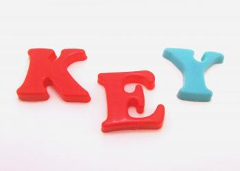 Plastic letters - Key