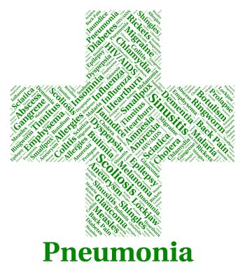 Pneumonia Illness Represents Poor Health And Ailment