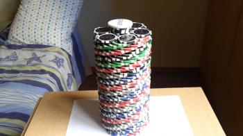 Poker chip stacks