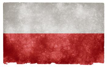 Poland Grunge Flag