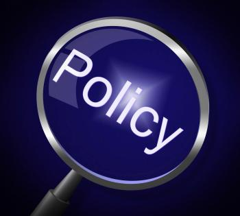 Policy Magnifier Shows Documentation Legal And Procedure