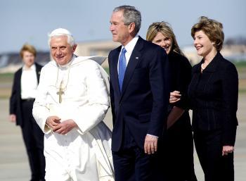 Pope Benedict and George Bush