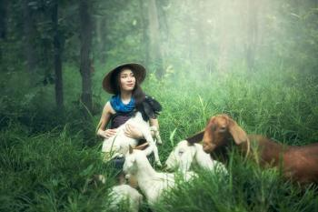 Portrait with the Goats