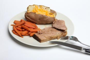 Pot Roast, Carrots and Baked Potato