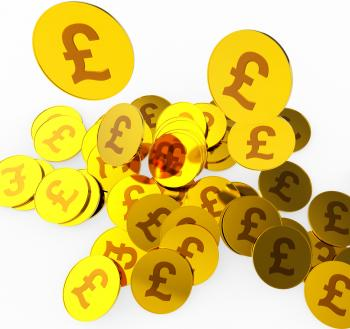 Pound Coins Means British Pounds And Finance