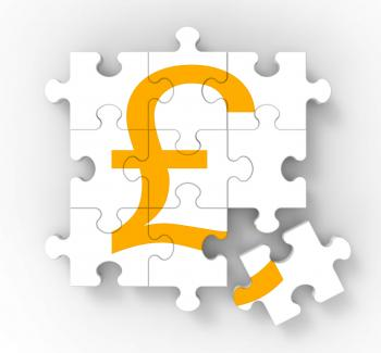 Pound Puzzle Showing Great Britain Banking Status